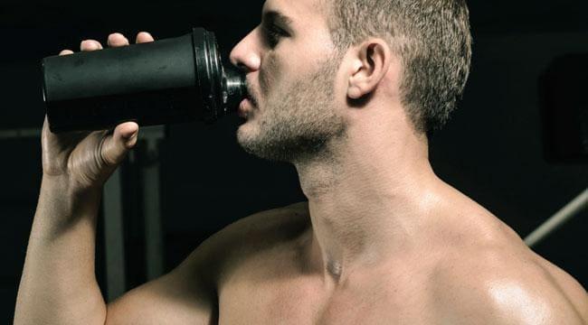 pastillas y batidos de proteinas para ganar masa muscular.